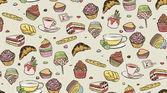 Cupcakes-muster — Stockvektor