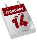 Valentines day calendar — Stock Vector