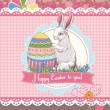 Stock Vector: Easter template