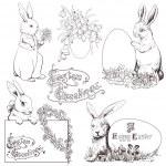 Easter bunny — Stock Vector #20588235