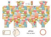 Gift box template — Vettoriale Stock