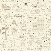 Paris Travel background — Stock Vector