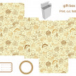 Royalty-Free Stock Vector Image: Gift box template