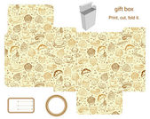 Gift box template — Stockvector