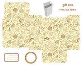 Modello di scatola regalo — Vettoriale Stock