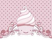 Carte de cupcake — Vecteur