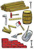 Construction tools — Stock Vector