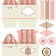 Cupcake box template — Stock Vector #25637745
