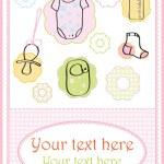 Baby girl card — Stock Photo #2738268