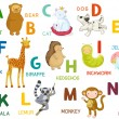 Letters and animals ABC — Image vectorielle