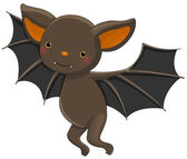 Vampire bat cartoon character — Stock Vector