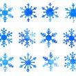 Set of snowflakes — Stock Vector #39719225