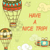 Have a nice trip card — Stock Vector