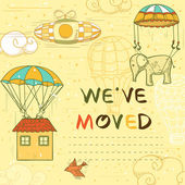 We have moved card — Stock Vector