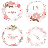 Floral Frame Collection — Stock Vector