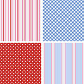 Cottage chic patterns — Stock Vector