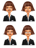 Business Woman avatar set — Stock Photo