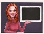 Redhead business woman character — Stock Photo