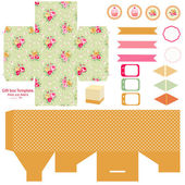 Cottage chic party set — Stock Vector