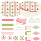 Cottage chic party set — Vettoriale Stock