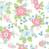 Cottage chic roses pattern — 图库矢量图片