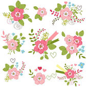 Floral bouquets — Vector de stock