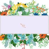 Floral card template — Stock Vector