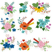 Floral bouquets — Stock Vector