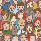 People pattern — Stock Vector
