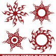 Stock Vector: Tattoo sun