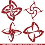 Tattoo cross — Stock Vector