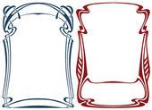 Рамки в стиле арт нуво — Cтоковый вектор