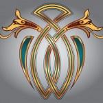 Celtic zoomorph motifs — Stock Vector