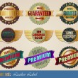 Gold-framed labels templates - Stock Vector