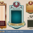 Gold-framed labels templates — Stock Vector
