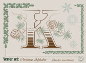 ベクター クリスマスのアルファベットの頭文字 — ストックベクタ