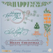Christmas and New Year's Inscription — Stock Vector