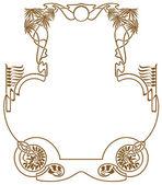 Quadro em estilo art-nouveau — Vetorial Stock