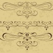 Abstract elements in style art-nouveau - Imagens vectoriais em stock