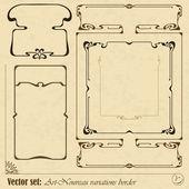 Vector abstract framework — Stock Vector