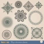 Vector decorative elements — Stock Vector