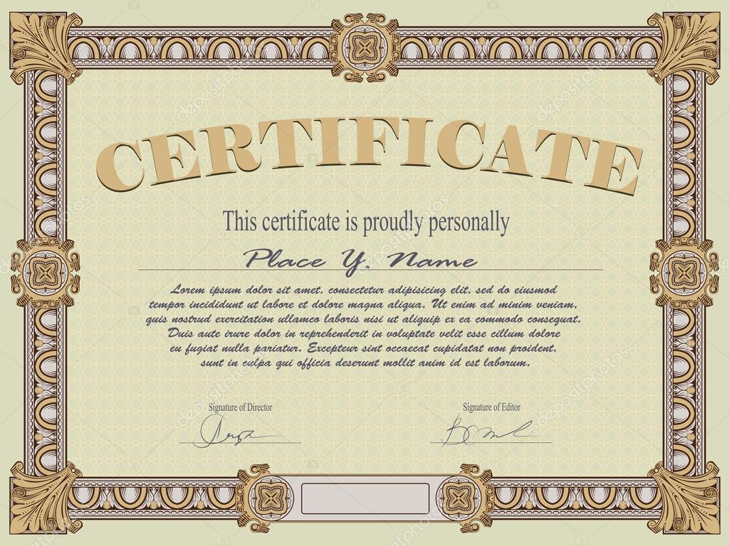 certificate template stock vector © bomg11 26830703 certificate template stock illustration
