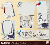 "Vector set: Collection ""Back to School"" — Stock Vector"