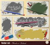 """Vektorové sada: kolekce """"zpátky do školy"""" — Stock vektor"""