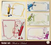 """векторный набор: коллекция «обратно в школу"""" — Cтоковый вектор"""