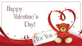 Greeting card for Valentine's Day — Vecteur