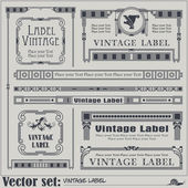 Border style labels on different topics — Stockvector