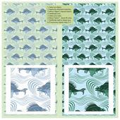 Vektor seamless mönster - fisk i havet — Stockvektor
