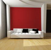 白色沙发 — 图库照片