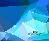 Abstract blue faceted background — Stock Vector